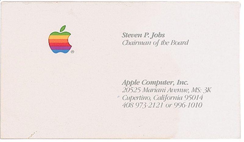 Il biglietto da visita di Steve Jobs oggi vale più di un iPad Air
