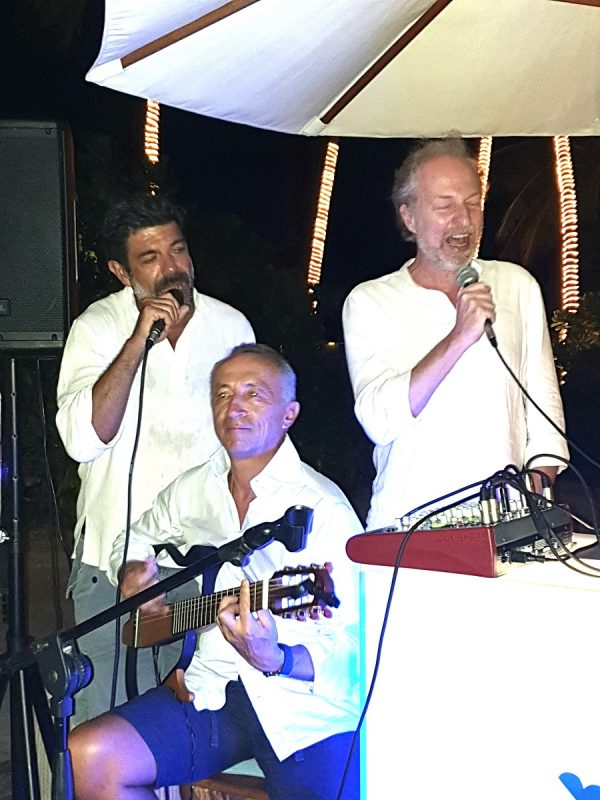 Maldive: Pierfrancesco Favino, Alberto Galassi e Arturo Artom