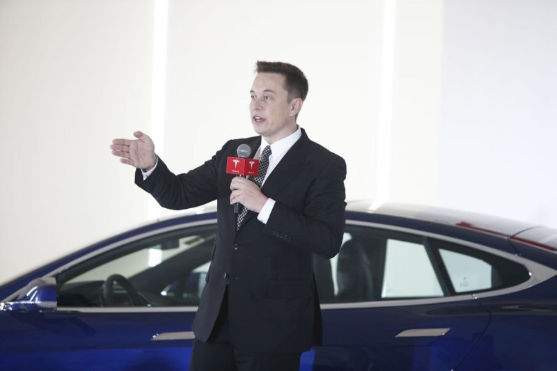 Elon Musk , cofondatore e Amministratore Delegato Tesla