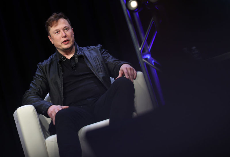 Elon Musk, ad di Tesla