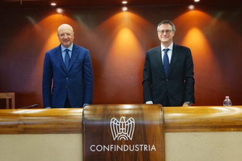 Confindustria, il nuovo presidente Carlo Bonomi e Vincenzo Boccia