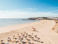 Spiaggi di Meia Praia - Lagos in Algarve, Portogallo