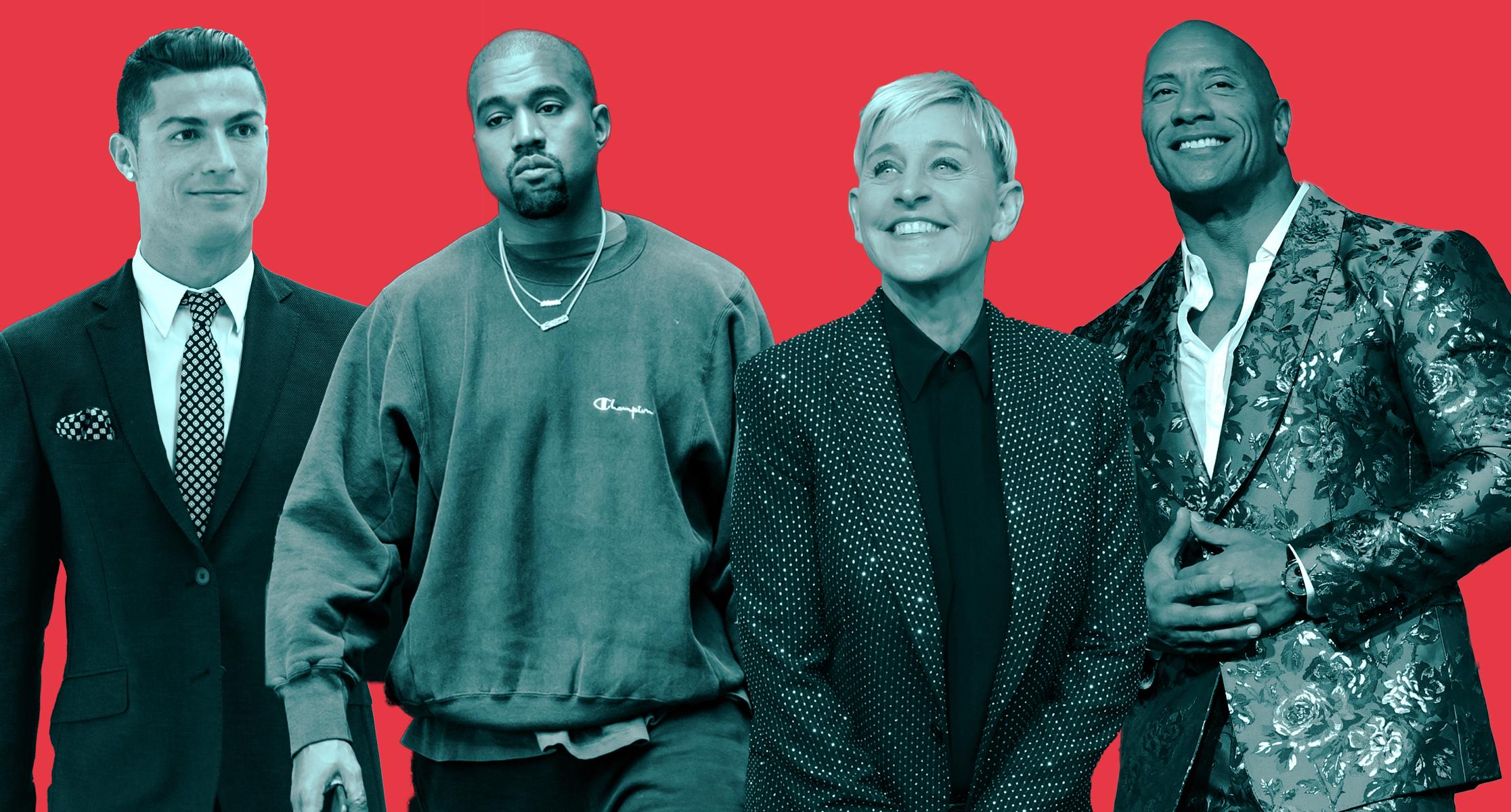 La nuova Celebrity 100 di Forbes