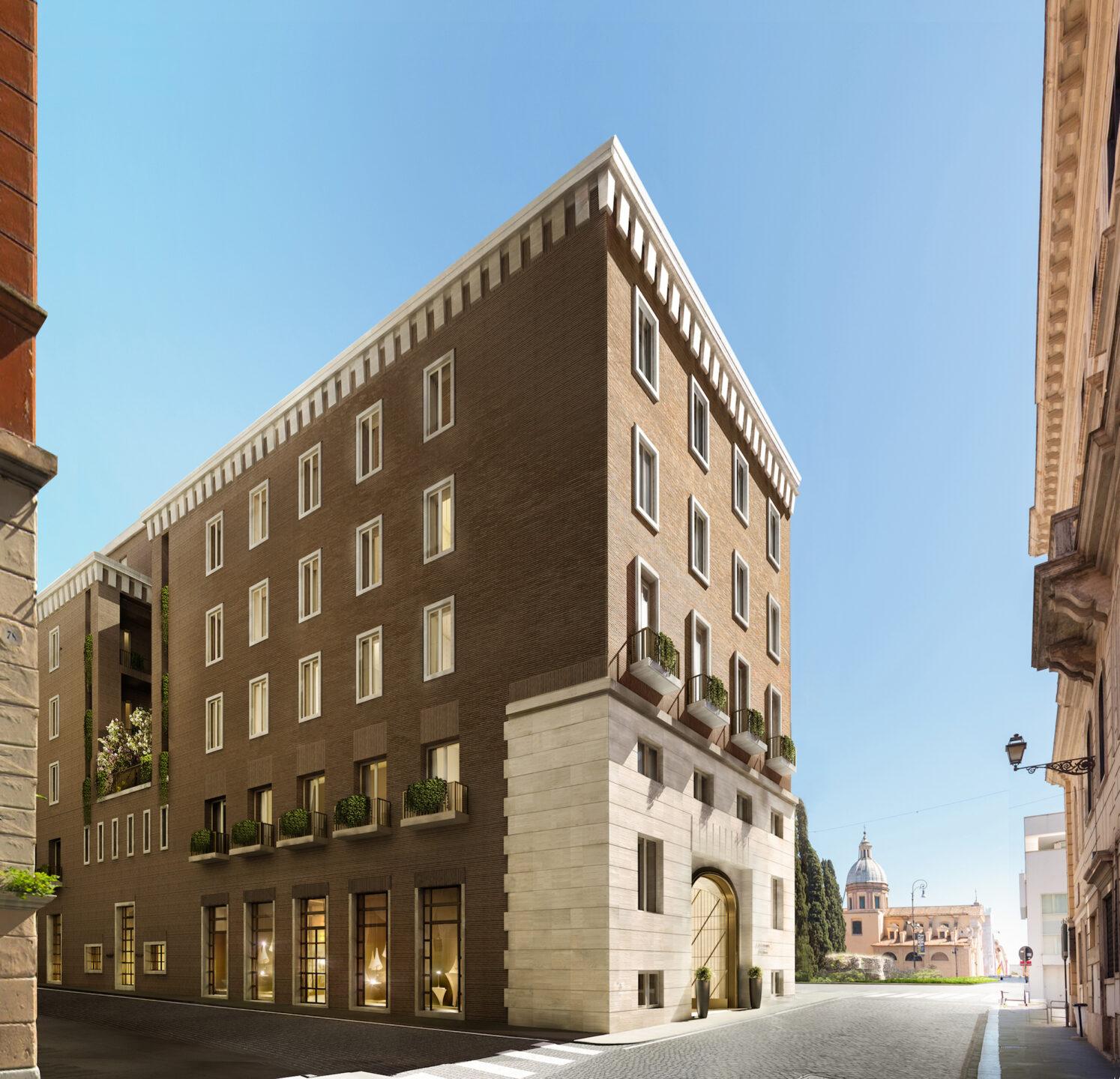 Bulgari Hotel Roma -rendering facciata