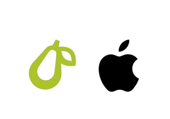 Apple logo mela vs logo pera Prepear