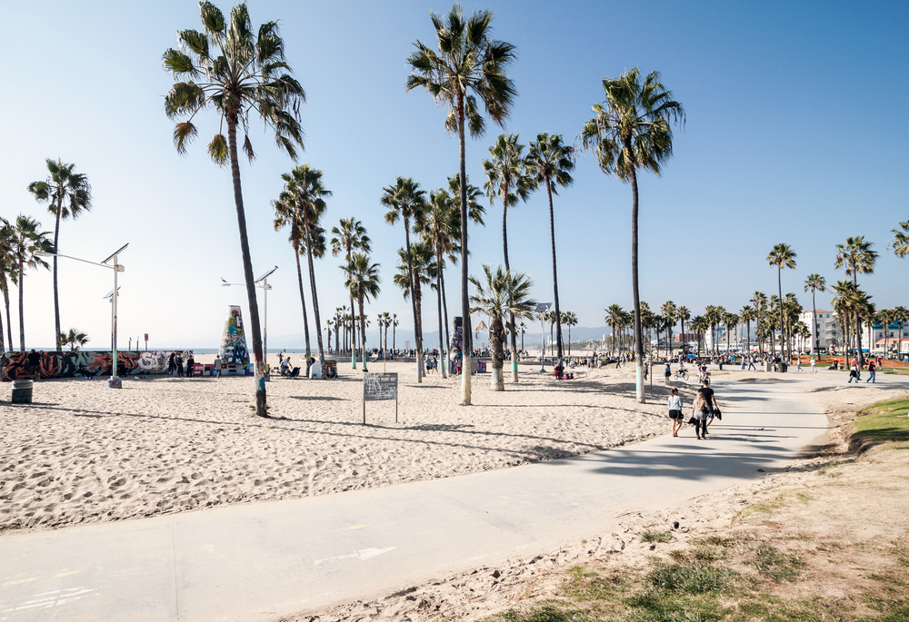 Usa, California, Los Angeles, Venice Beach, Silicon Beach