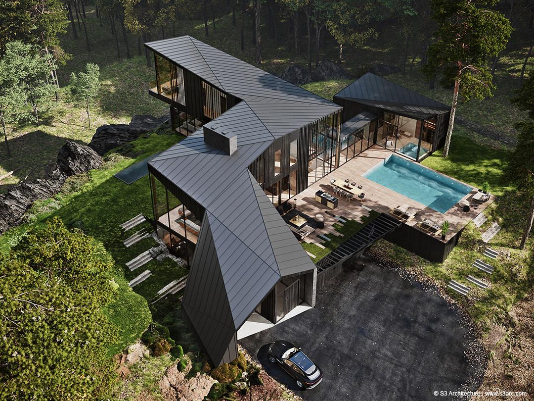 Sylvan Rock, la villa firmata Aston Martin (courtesy S3 Architecture)