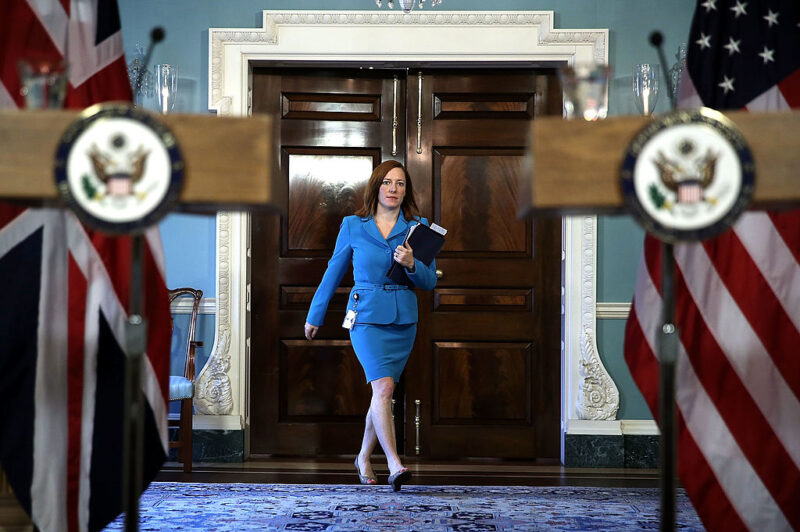 Jennifer Psaki addetto stampa del presidente Joe Biden