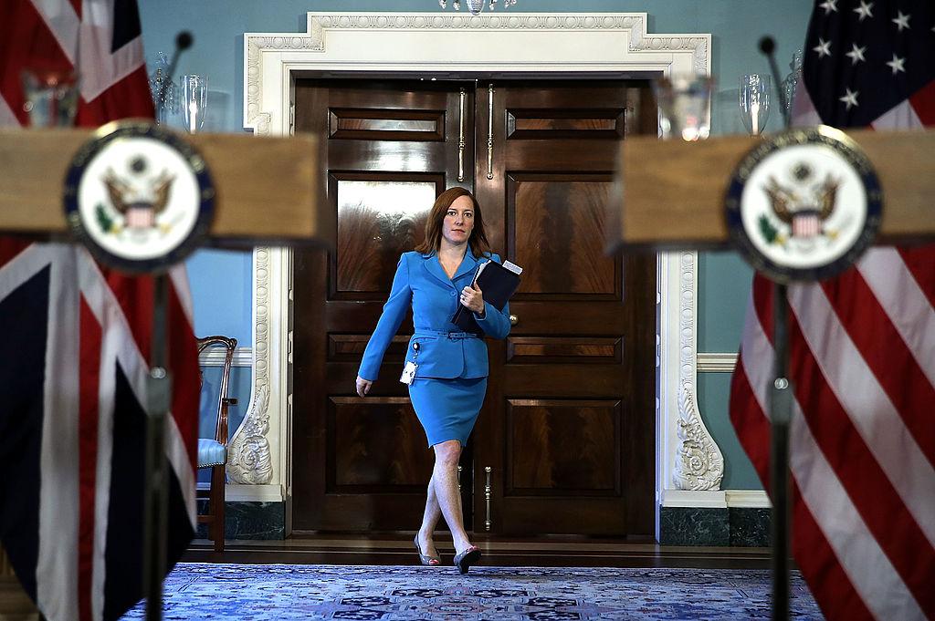 Jennifer Psaki addetto stampa del presidente Joe Biden