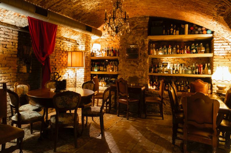 Classifica Migliori bar al mondo: interni del cocktail bar milanese 1930.