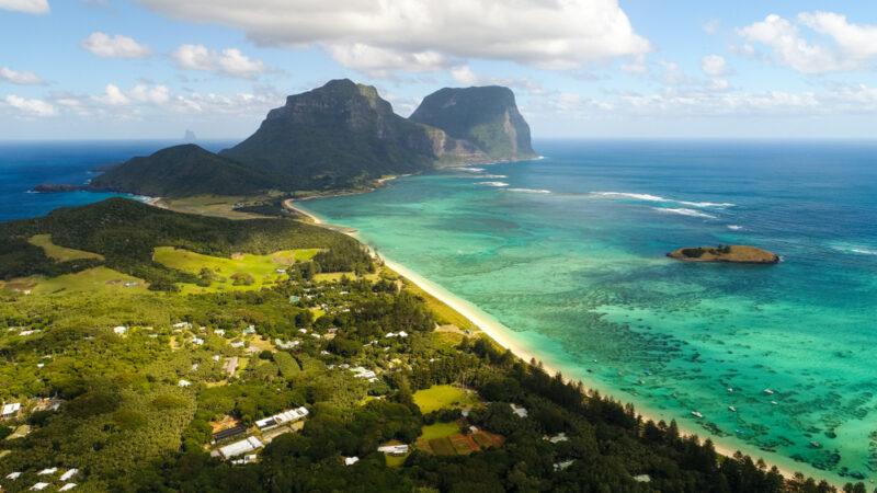 National Geographic, posti da visitare: vista aerea dell'isola Lord Howe in Australia