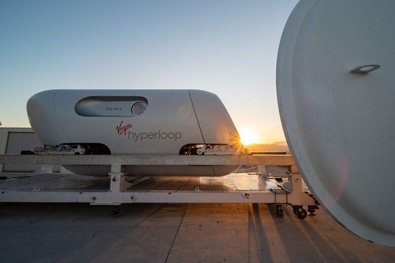 capsula treno Virgin di Richard Branson