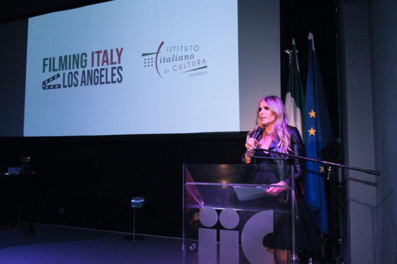 Tiziana Rocca al 2020 Filming Italy Awards
