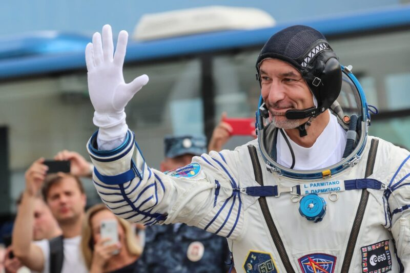 L'astronauta dell'Agenzia spaziale europea, Luca Parmitano.