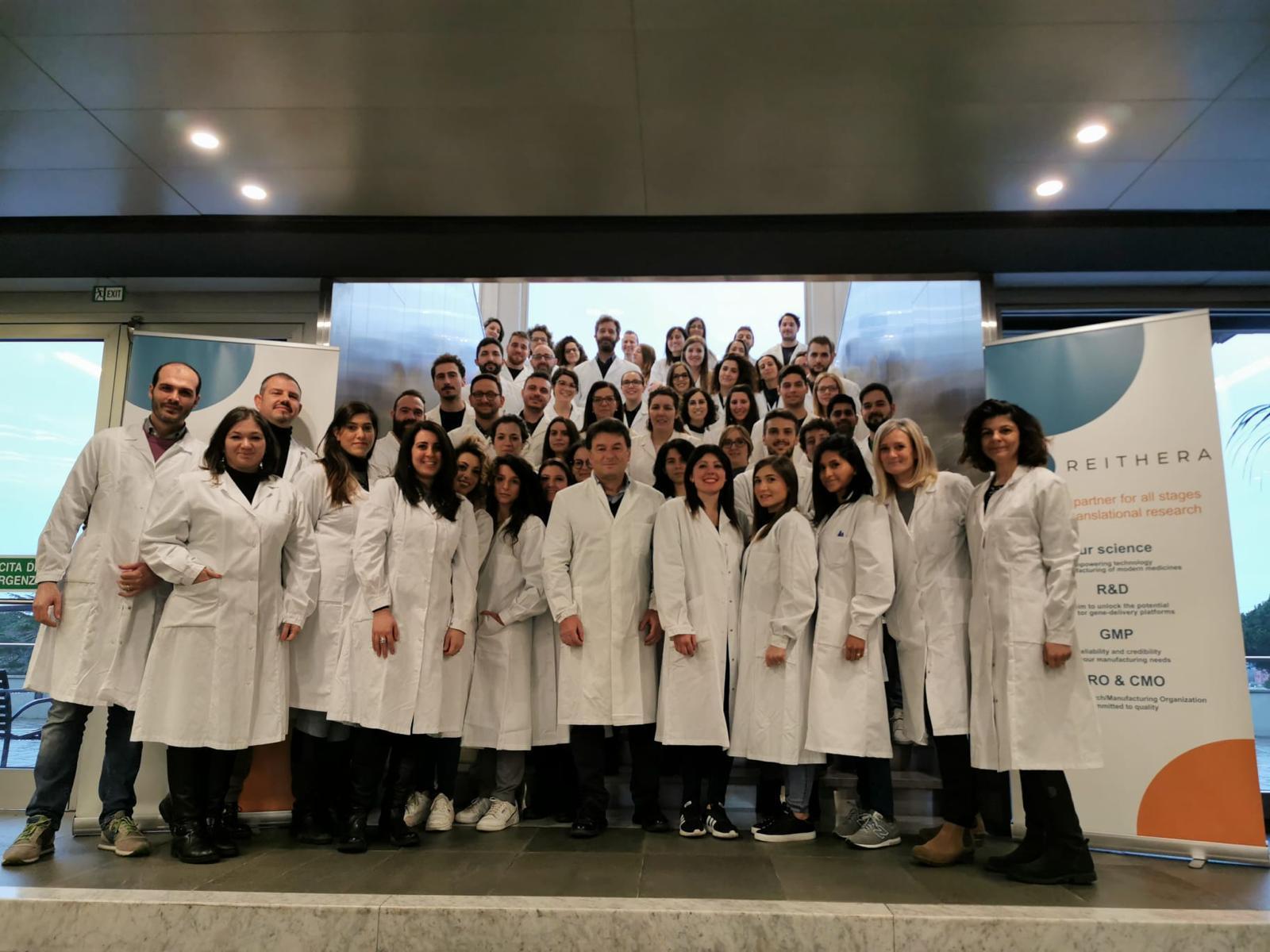 staff reithera, azienda produttrice vaccino italiano