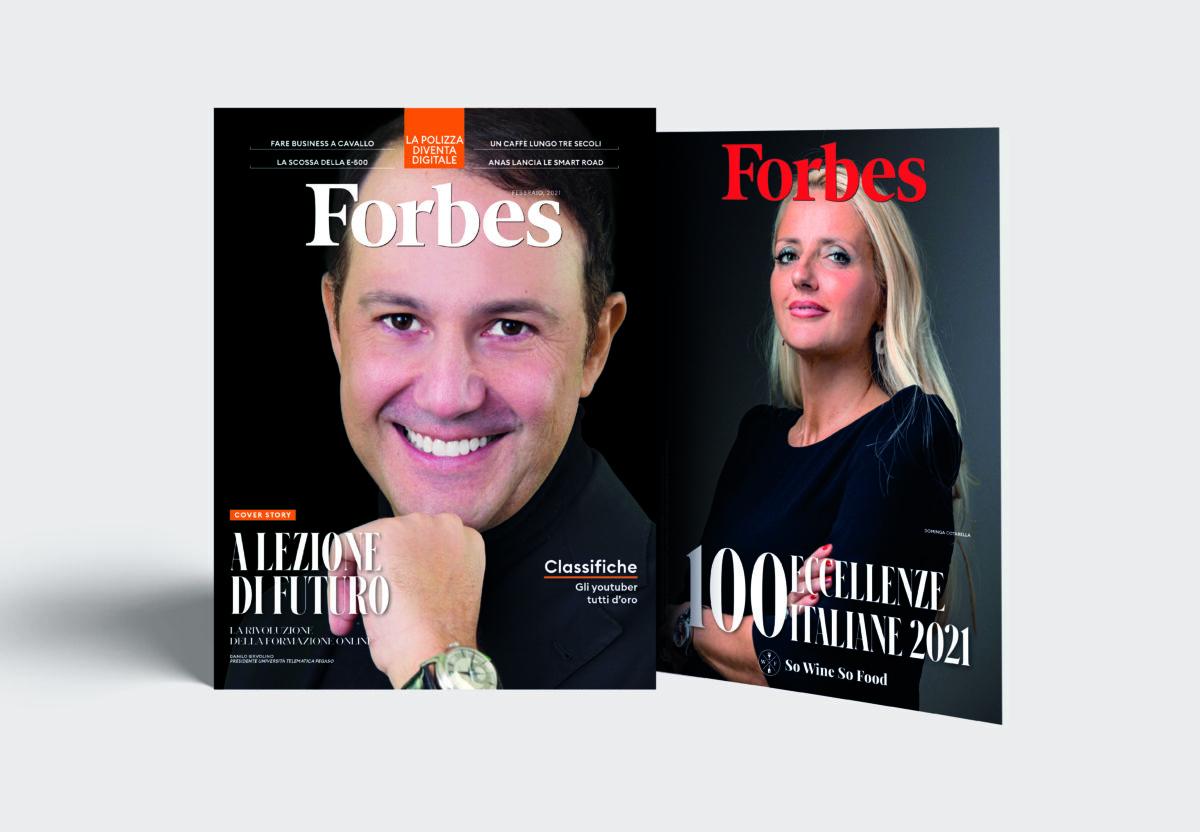 In edicola il numero di febbraio di Forbes con l'allegato delle 100 Eccellenze