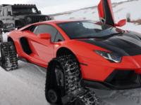 Lamborghini Aventador delle nevi1