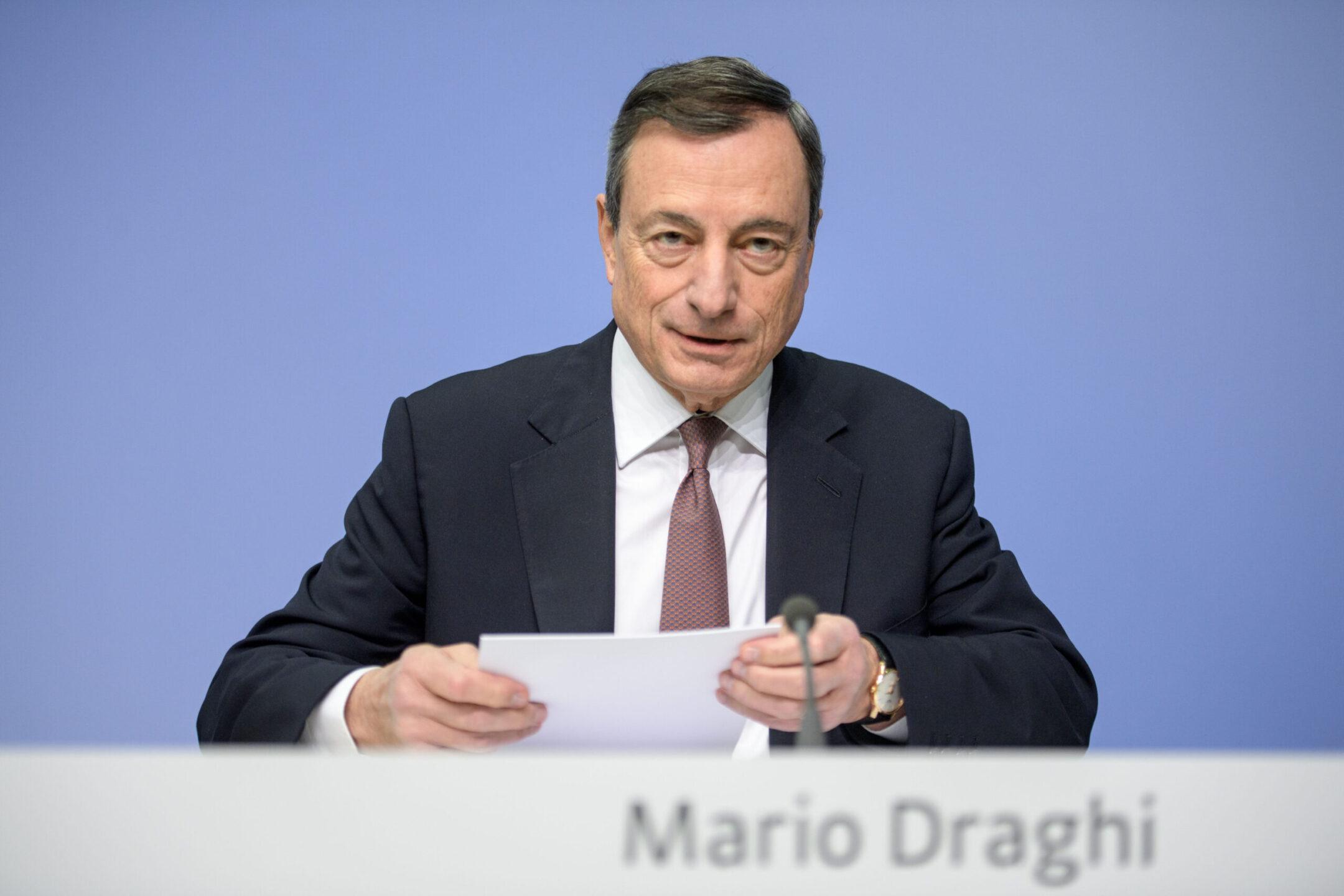 Mario Draghi, manovra di bilancio