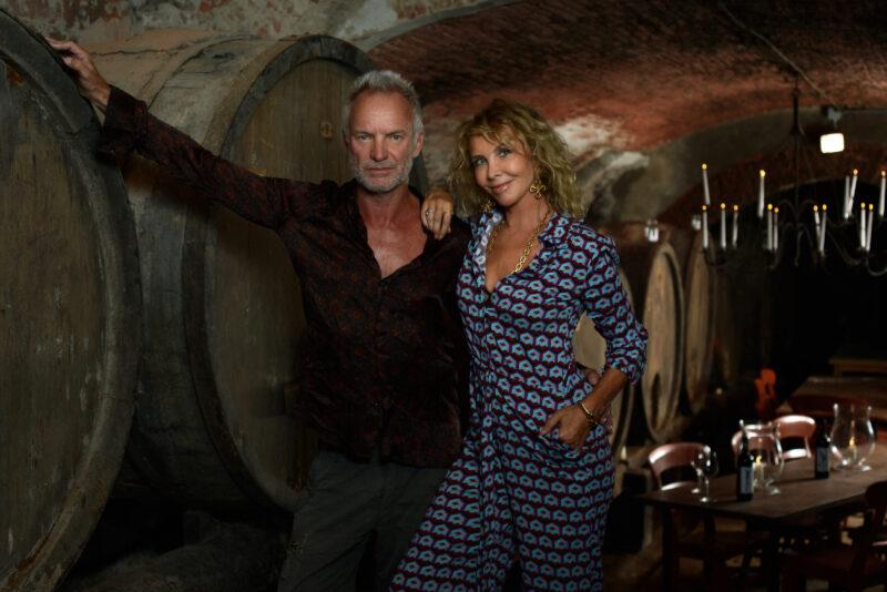 Trudie Styler Sting vino