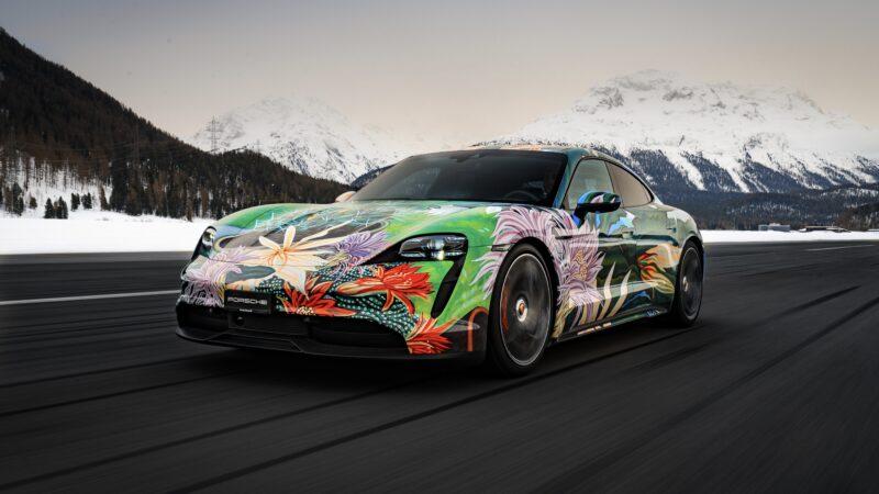 Porsche taycan artcar