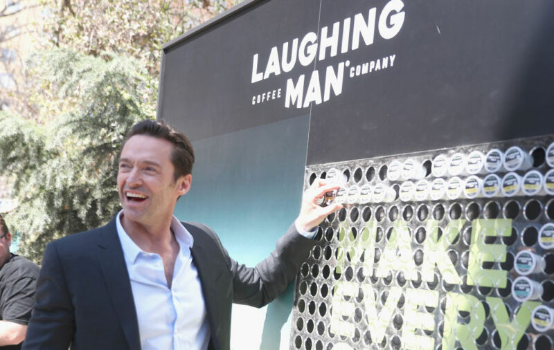 Hugh Jackman Laughing Man Coffee Company