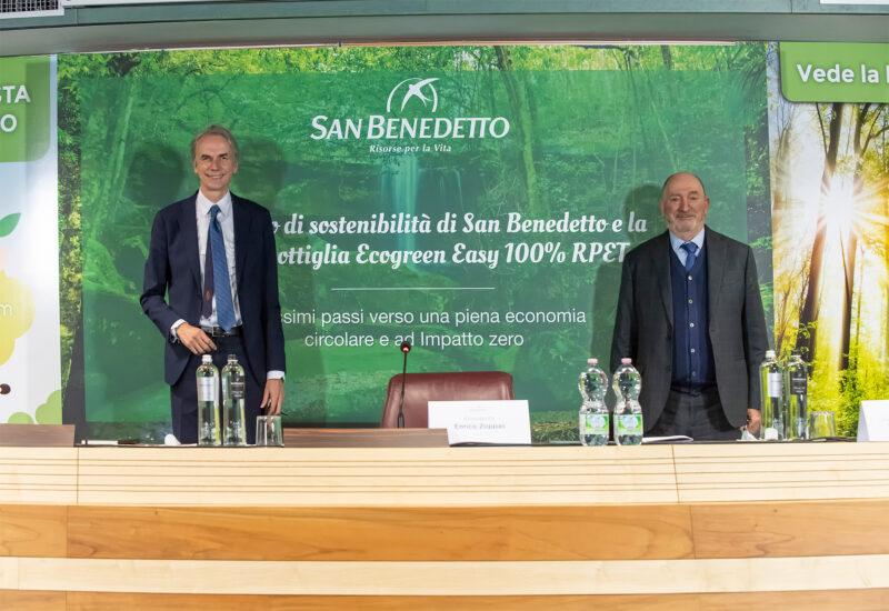 Senatore Andrea Ferrazzi ed Enrico Zoppas di San Benedetto in conferenza stampa