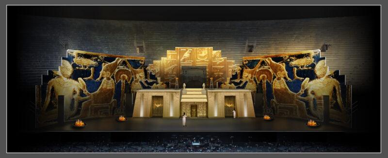 bozzetto Aida Arena Verona