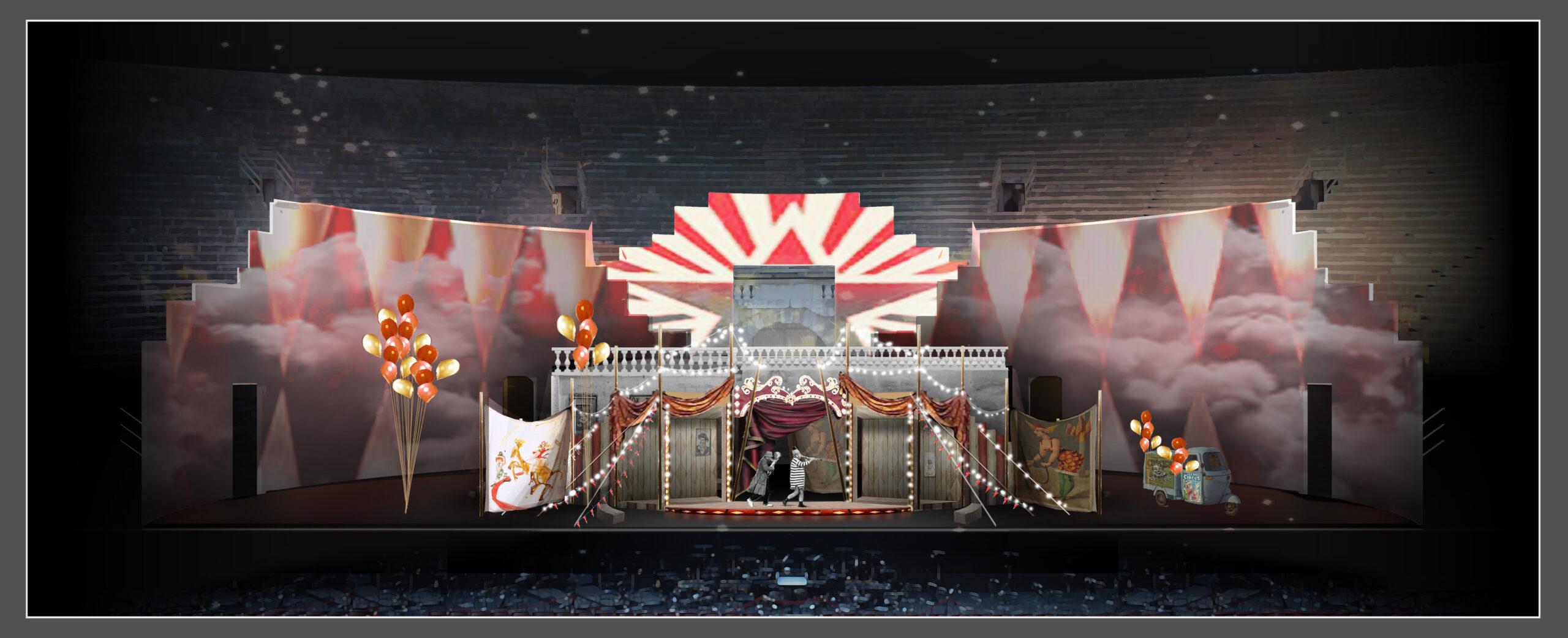 Bozzetto Pagliacci Arena di Verona