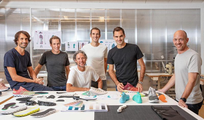 On scarpe Roger Federer